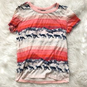BDG UO striped wolf shirt